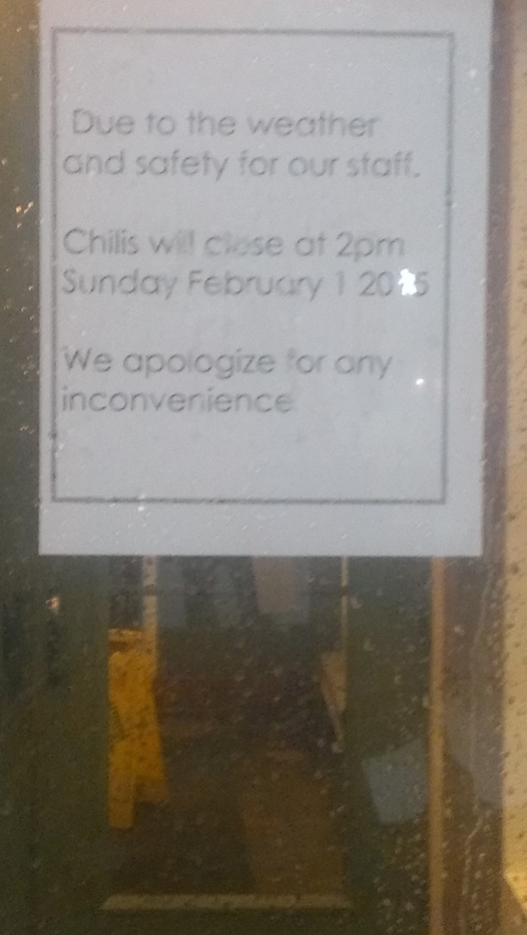 closed for Super Bowl