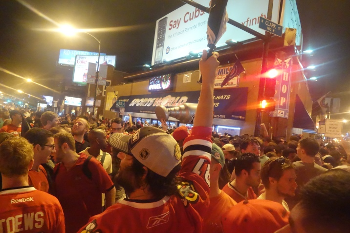 Rain and Celebration: Blackhawks 2015