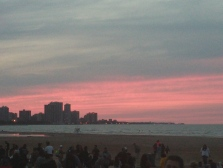 Sunset at Montrose Beach on July 15, 2015.