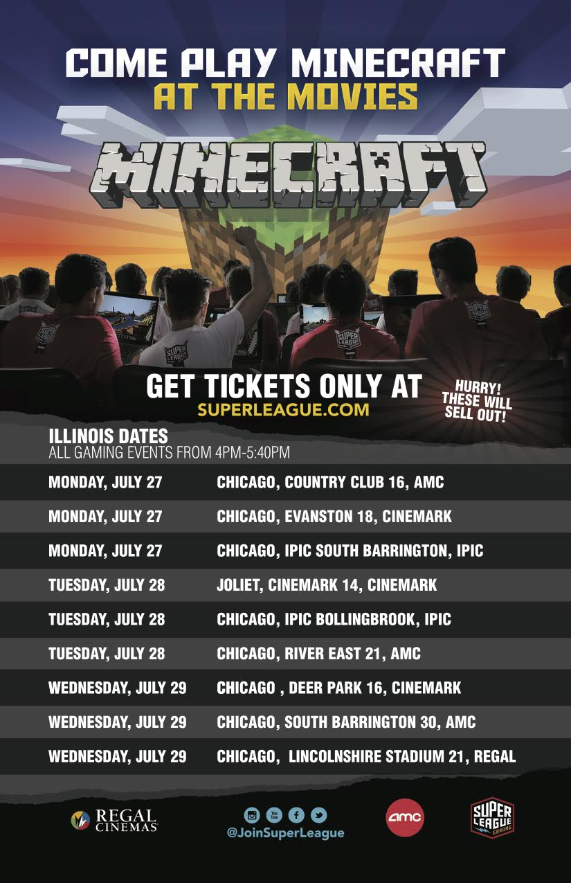 Minecraft Comes To Chicago Theaters This July Windy City Cosmo