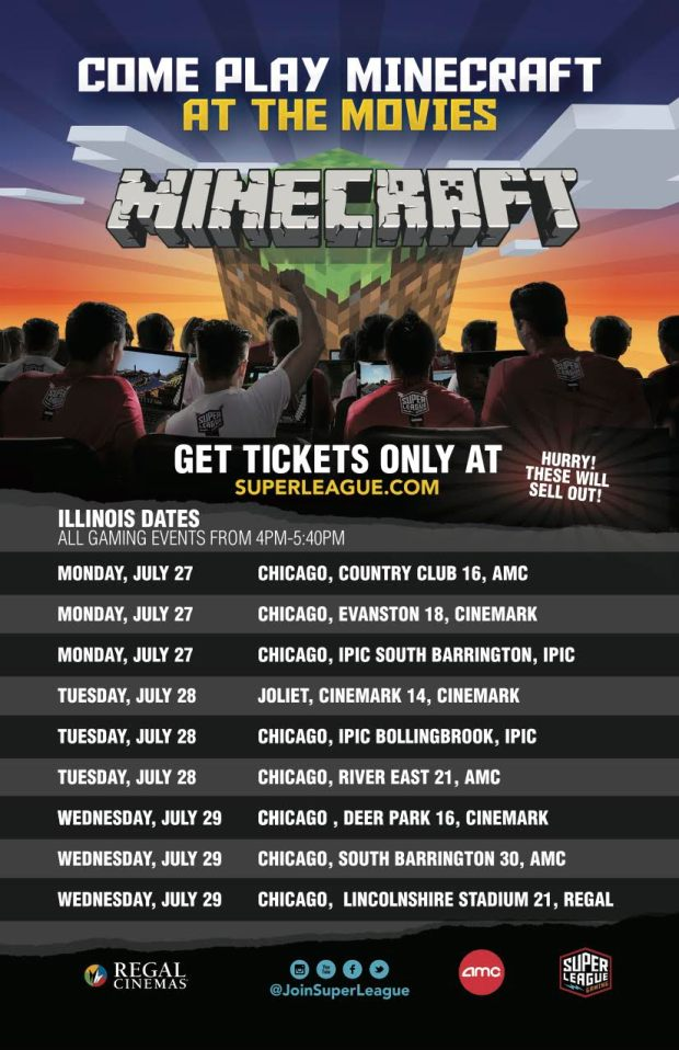 Minecraft Comes to Chicago Theaters this July