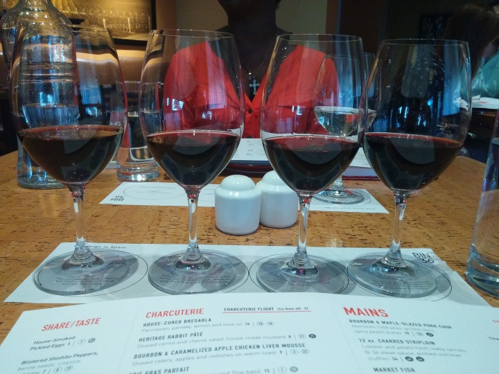 Spanish Wine Flight at Bin 36 in West Loop Photo: Amanda Elliott