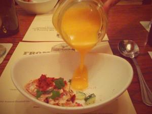 Melon soup from Farmhouse.