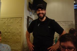 Chef Eric Mansavage of Farmhouse introduced his dishes. Photo: Amanda Elliott