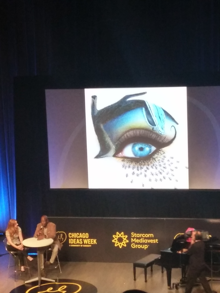 Eye Art at Chicago Ideas Week 2015 Photo: Amanda Elliott