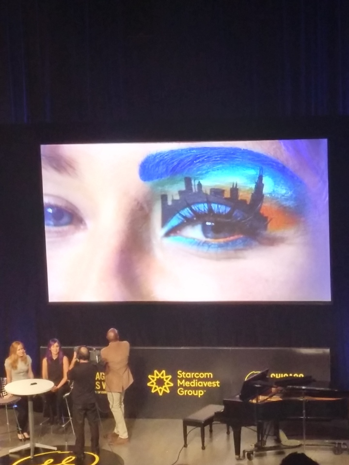 Chicago Skyline Eye Art at Chicago Ideas Week 2015 Photo: Amanda Elliott