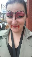 Zombie make-up artist Photo: Amanda Elliot
